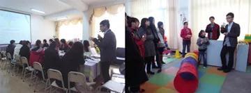 徐磊与美国老师(博士团)一同开展培训